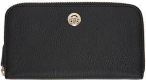 Versace Black Medusa Zip Around Wallet