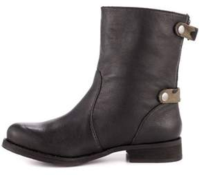 Kensie Womens James Leather Almond Toe Mid-calf Combat Boots.