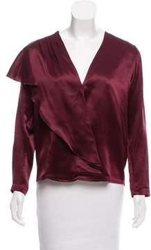 Masscob Satin Silk Blouse w/ Tags