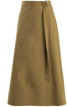 Vanessa Bruno Ikla cotton-blend canvas wrap skirt