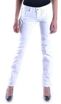 Fiorucci Women's White Cotton Jeans.
