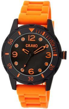 Crayo Splash Collection CRACR2204 Unisex Watch with Silicone Strap