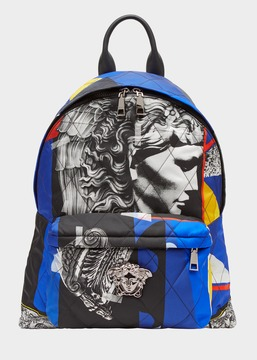 Versace JP Collage Nylon Backpack