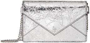 Tory Burch Crackle Metallic Envelope Mini Bag Bags - BLACK - STYLE