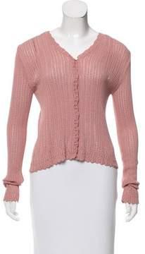 Christian Dior Long Sleeve Knit Cardigan