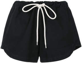 Bassike pique canvas mini shorts