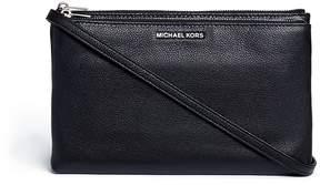 Michael Kors 'Adele' double zip leather crossbody bag - ONE COLOR - STYLE