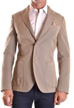 Manuel Ritz Men's Beige Cotton Blazer.