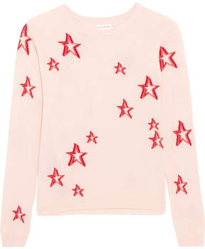 Chinti and Parker 3d Star Cashmere Sweater - Pink
