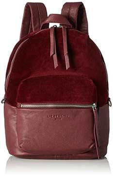 Liebeskind Berlin Women's Stanfordw7 Velvet and Leather Backpack