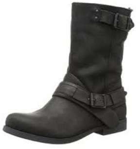 Calvin Klein Jeans Womens Cadence Leather Almond Toe Ankle Fashion Boots.
