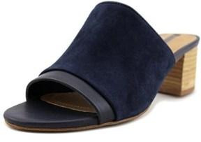 Tahari Daisie Open Toe Leather Slides Sandal.