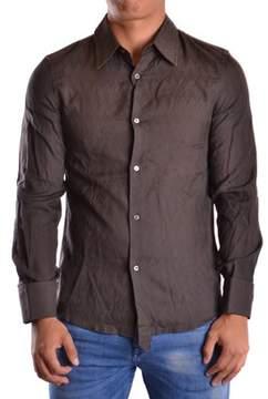CNC Costume National Men's Brown Cotton Shirt.