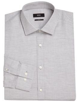 HUGO BOSS Regular-Fit Cotton Dress Shirt