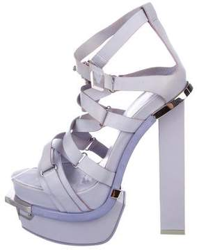 Versace Leather Platform Sandals