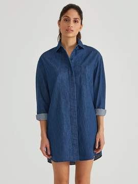 Frank and Oak Denim Shirtdress in Medium Blue