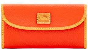 Dooney & Bourke Patterson Leather Continental Clutch Wallet - PERSIMMON - STYLE