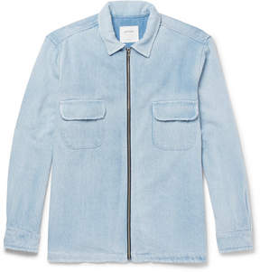 Noon Goons Brushed-Denim Zip-Up Jacket
