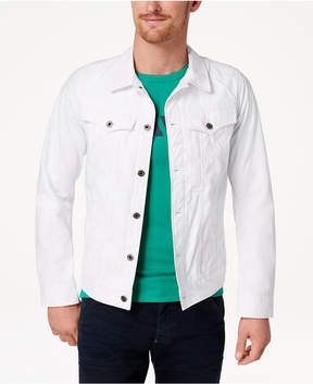 G Star Men's D-Staq Slim Fit White Denim Jacket, Created for Macy's