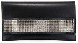 VBH Passe Partout XL Leather and Crystal Clutch Bag