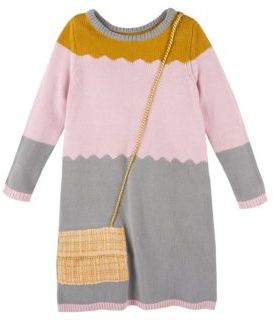 Andy & Evan Colorblock Sweater Dress