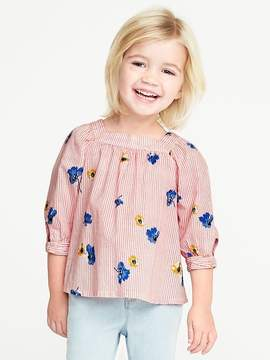 Old Navy Printed Square-Neck Top for Toddler Girls