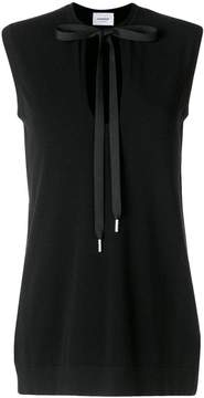 Dondup sleeveless blouse with tie fastening