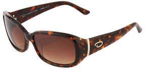 Oscar de la Renta O By Basic Rectangle Plastic Sunglasses