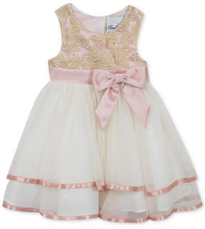 Rare Editions Baby Girls Embroidered-Bodice Mesh Dress