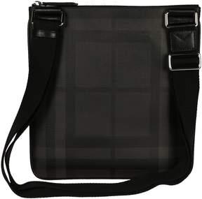 Burberry Check Crossbody Bag - CHARCOAL/BLACK - STYLE