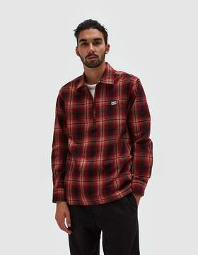 Obey Loose Moves Woven Shirt in Burgundy Multi