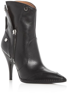 Moschino Pointed Toe High Heel Booties