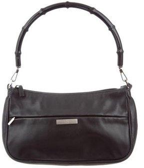 Gucci Bamboo Shoulder Bag - BLACK - STYLE