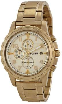 Fossil Dean Chronograph Champagne Dial Gold-tone Men's Watch
