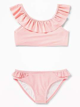 Old Navy Striped Ruffle-Neck Bikini for Girls