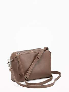 Faux-Leather Camera Bag for Women