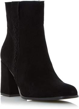 Dune London PACO - BLACK Plaited Side Detail Ankle Boot
