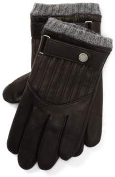 Ralph Lauren Quilted Leather Racing Gloves Rl Black M