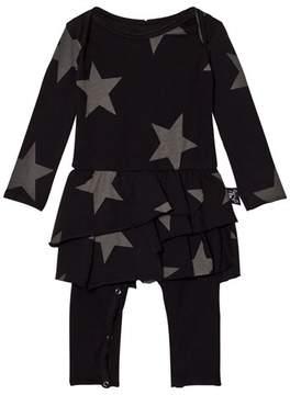Nununu Star Onesie Skirt Black