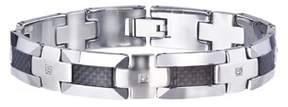 Armani Exchange Jewelry Mens Tungsten Carbon Fibre Bracelet (0.20 Carats, H-i I2).