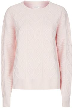 Chinti and Parker Heart Cable Knit Sweater