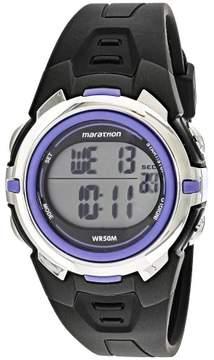 Timex Women's Marathon T5K364 Black Resin Quartz Sport Watch