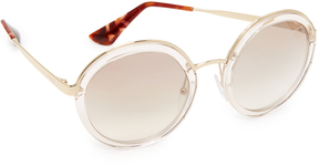 Prada Transparent Round Sunglasses
