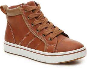 Boys Hitoppr Youth High-Top Sneaker -Cognac