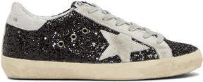 Golden Goose Deluxe Brand SSENSE Exclusive Black Glitter Superstar Sneakers