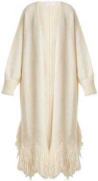 Chloé Shaggy-fringed wool cardigan