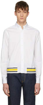 Loewe White Rib Detail Shirt