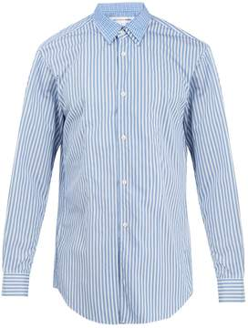 Comme des Garcons Double-layered striped cotton shirt