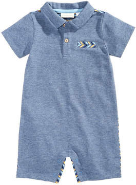First Impressions Striped-Back Cotton Romper, Baby Boys (0-24 months), Created for Macy's
