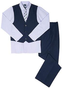 Izod Lilac Heather Four-Piece Vest Set - Boys
